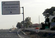 Sign to Calblanque