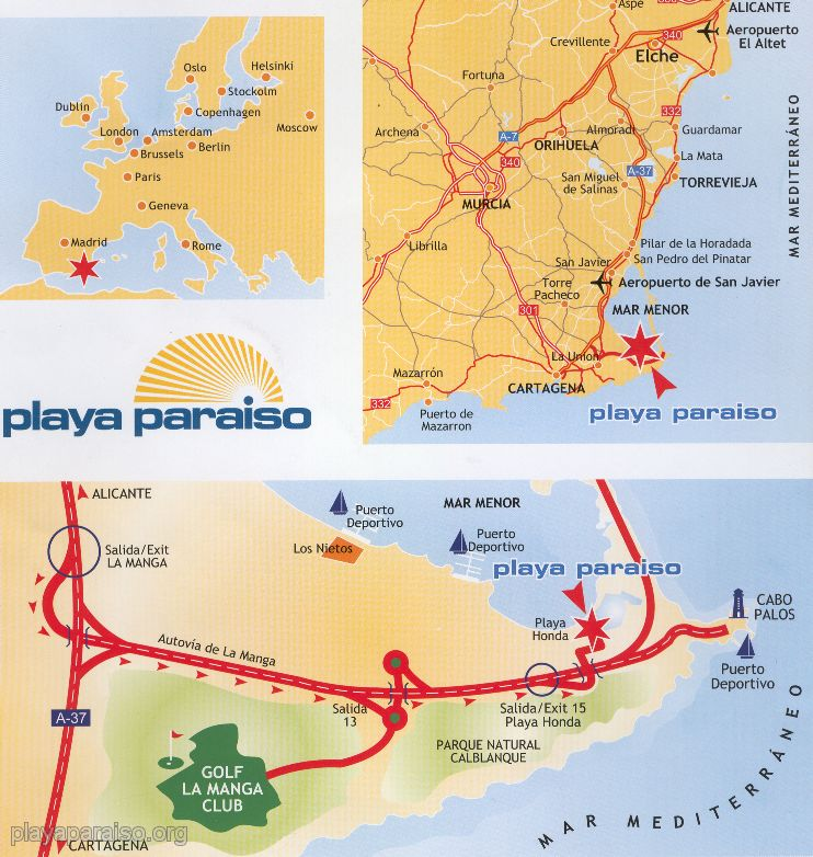 Playa Paraiso maps